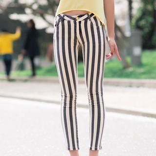 Striped Skinny Pants