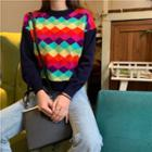 Patterned Sweater Rhombus - Multicolour - One Size