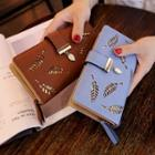 Faux-leather Cutout Long Wallet