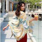 Printed Shawl Greenish Yellow - One Size