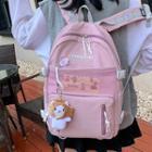 Mesh Pocket Zip Backpack