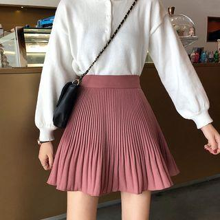 Mini Ribbed A-line Skirt