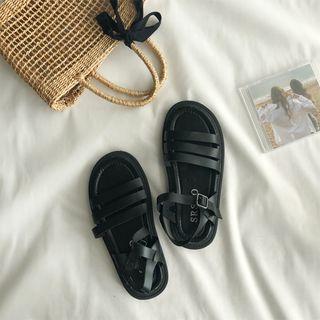 Faux-leather Ankle Trap Sandals
