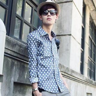 Long-sleeve Dotted Shirt