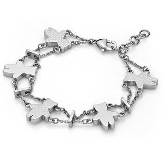 Kenny Bear Steel Bracelet Silver - One Size