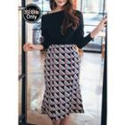 Geometric Pattern Mermaid Skirt