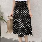Midi A-line Dotted Chiffon Skirt