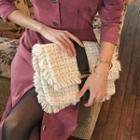 Chain-strap Flap Tweed Shoulder Bag