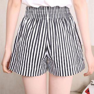Striped Shorts Stripes - Black & White - One Size