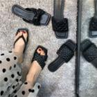 Square-toe Slide Sandals (various Designs)