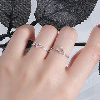 925 Sterling Silver Zodiac Open Ring