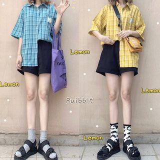 Plaid Shirt / Mini Dress