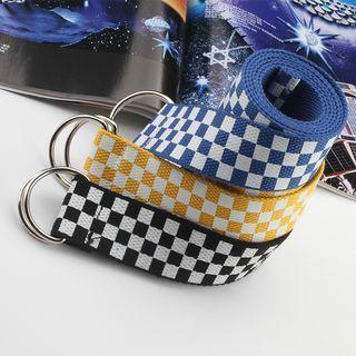 Checker Nylon Belt