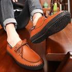 Genuine-leather Lace-up Deck Shoes