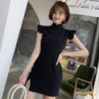 Side-slit Cap-sleeve Qipao