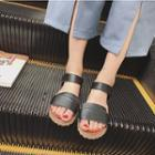 Genuine-leather Flat Sandals