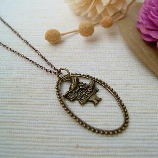 Teardrop Mr. Rabbit Necklace Copper - One Size