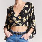 Floral Ruffled Cropped Top