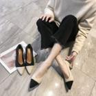 Pointed Color Block Pumps