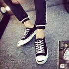 Faux-leather Sneakers / Canvas Sneakers