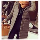 Plain Hooded Padded Coat
