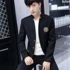 Applique Stand-collar Blazer