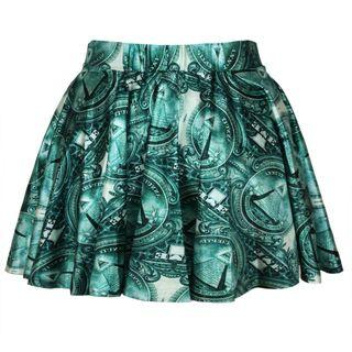 Patterned A-line Mini Skirt As Shown In Figure - One Size