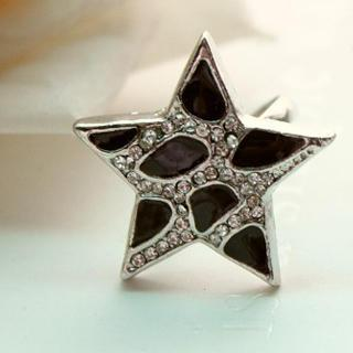 Black Star Ring Black - One Size