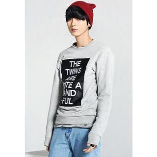Lettering Embroidered Sweatshirt