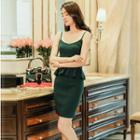 Set: Peplum Camisole Top + Pencil Skirt
