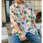 Short-sleeve Paint Print Shirt