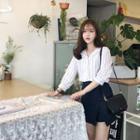 Slit-hem A-line Miniskirt