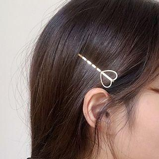 Alloy Heart Hair Pin 1 Pc - Gold - One Size
