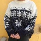 Snowflake Jacquard Sweater