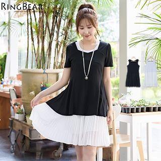 Chiffon Hem Sleeveless Dress