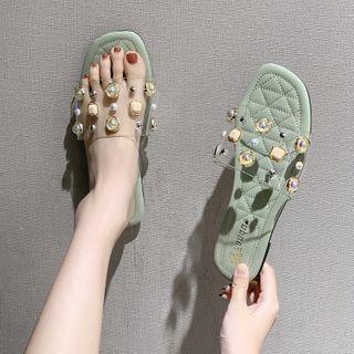 Studded Embellished Slippers