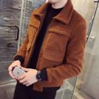 Pocketed Fleece Zip Jacket