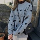 Oversize Dotted Knit Sweater
