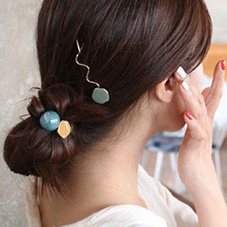 Set: Alloy Hair Clip + Hair Tie