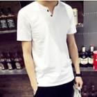 Short-sleeve Notch Neck T-shirt
