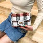 Twist Lock Tweed Crossbody Bag