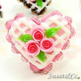 Mini Pink Cake Swarovski Crystal Cake Ring