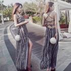 Set: Bikini + Strappy Beach Dress