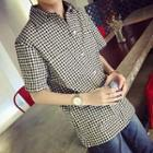 Gingham Short-sleeve Shirt