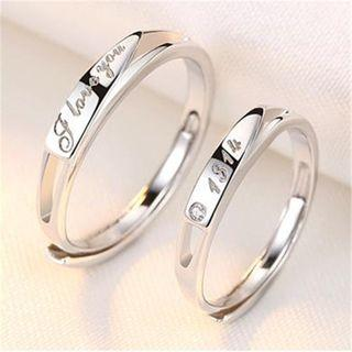 925 Sterling Silver Lettering / Numerical Open Ring