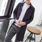 Striped Couple Matching Long Shirt