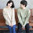 Couple Wrap V-neck Knit Top