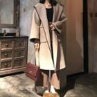 Piped Hooded Coat