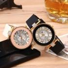 Embellished Silicone Strap Watch