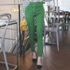 Belted Colored Skinny Pants